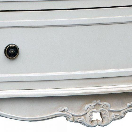Appleby Shabby Antique White 3 Drawer Chest