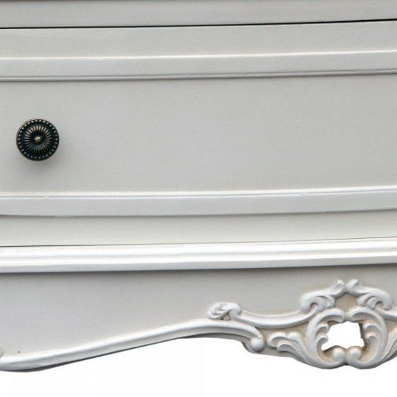 Appleby Shabby White Chest Of Drawers Petite