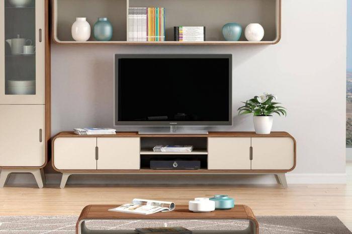 Arcus Walnut and Warm Tea TV Units