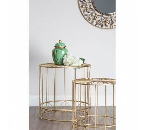 Art Deco Lexi Set of 2 Tables in Gold