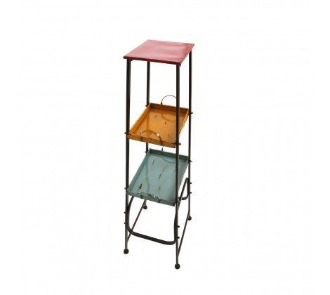 Metal 3 Tier Coloured Artisan Cabinet