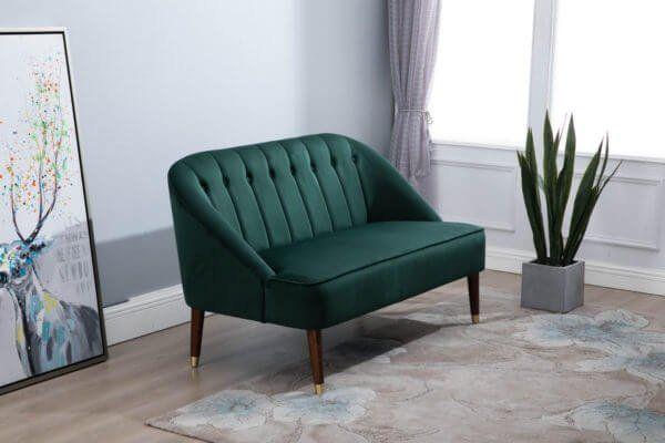 Aurelia 2 Seater Sofa in Green, Grey or Mustard