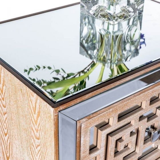 Azur Mirrored Two Drawer Console Table
