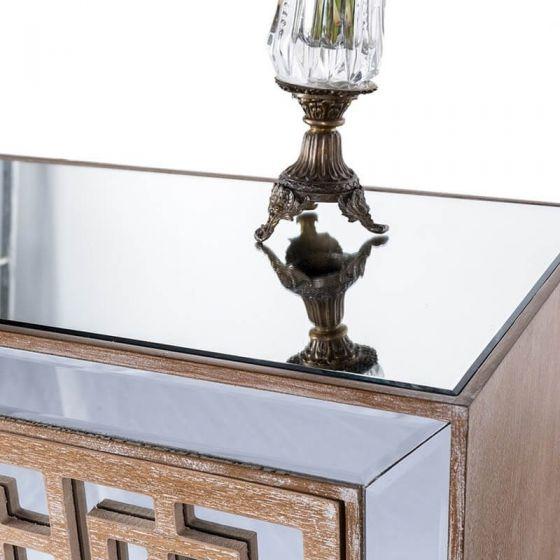 Azur Mirrored Four Drawer Tallboy Chest