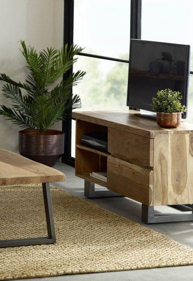 Baltic Mango Wood 2 Drawer TV Unit