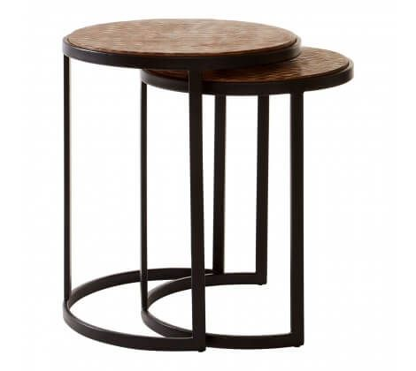 Berry Chevron Side Table