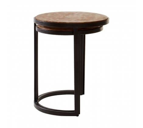 Berry Chevron Side Tables