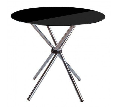 Black And Chrome Round Dining Table