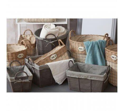 Black and Grey Lida Rope Storage Baskets