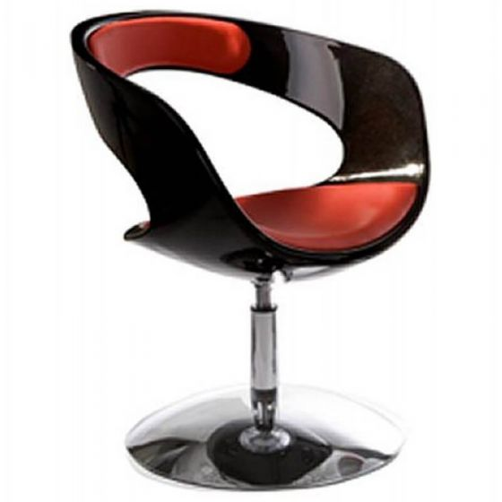 Red and Black Dylan Modern Swivel Chair