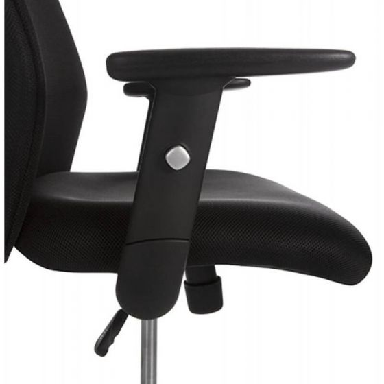 Megan Black Padded Fabric Computer Chair