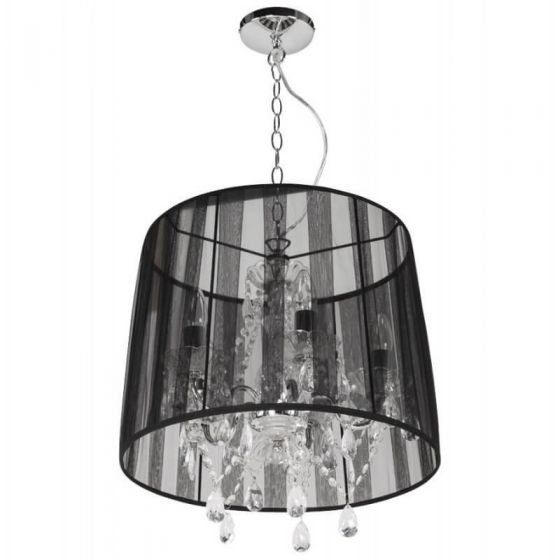 Catherine Traditional Jewel Ceiling Light Black