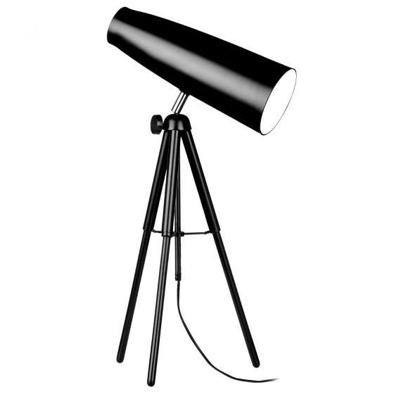 Black Tripod Spotlight Table Lamp