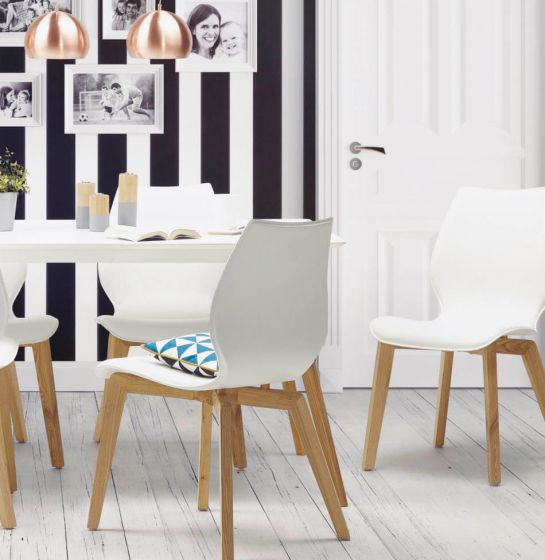 Bora Solid Ash White Chair