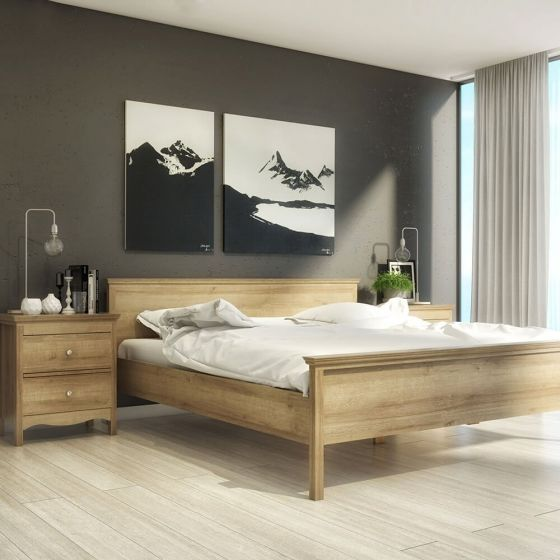 Borg Oak Effect Scandi Bed Frame