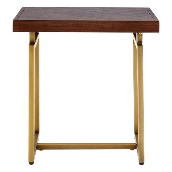Bravo Antique Brass Side Table