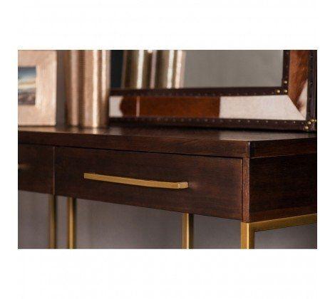 Bravo Antique Brass Console Table