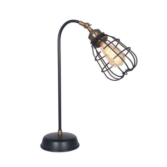 Caged Adjustable Table Lamp
