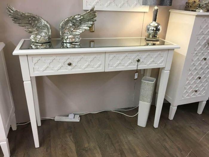 Casablanca White Console Table