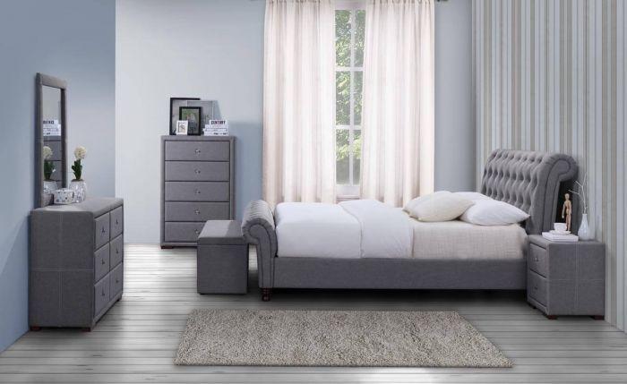 Castolio Grey Fabric Bed Frames