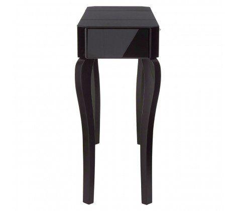 Cattleya Black Glass Console Table