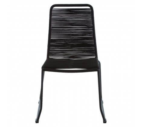 Cecil Full Black Roper Dining Chair