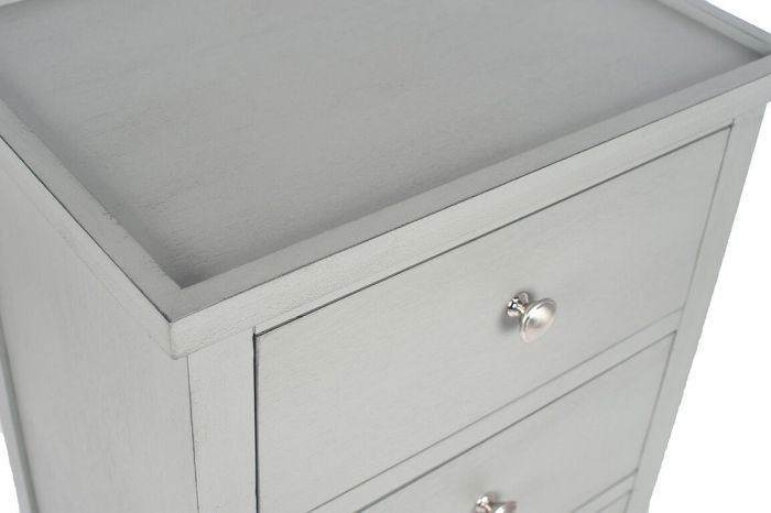 Chiara Grey Pine 3 Drawer Bedside Chest