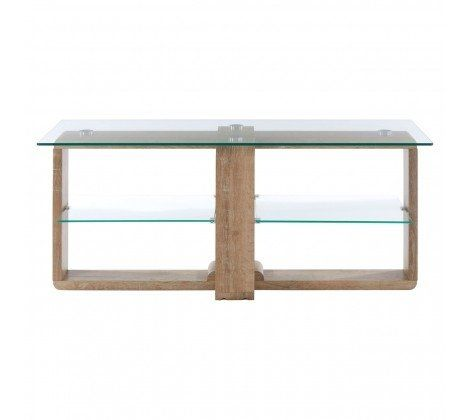 Chloe Glass and Brown TV Unit