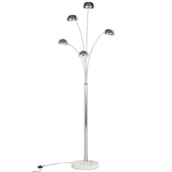 Chrome 5 Light Spotlight Floor Lamp