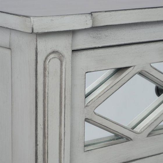 Clara Grey Mirrored Chest of Drawers