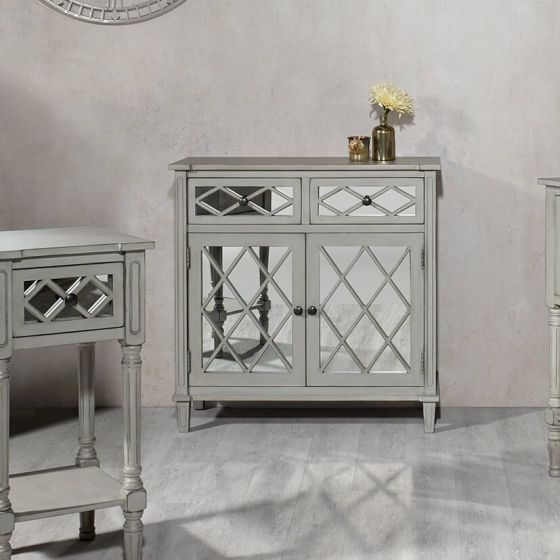 Clara Grey Mirrored Sideboard