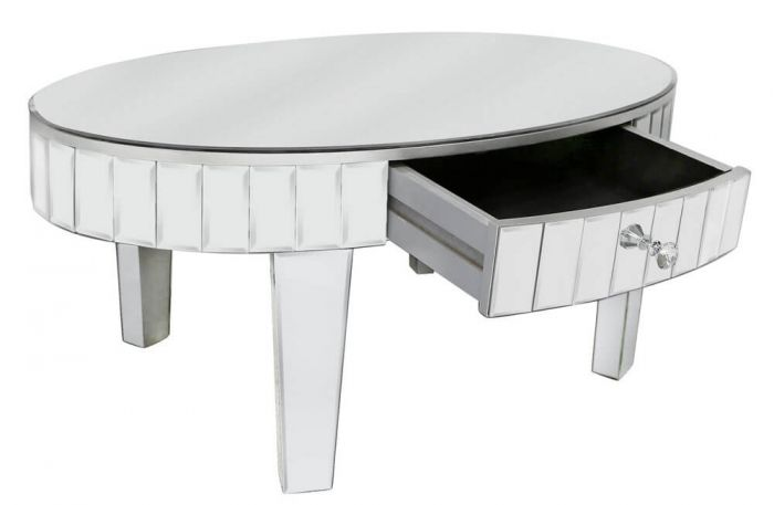 Clear Mirrored Coffee Table