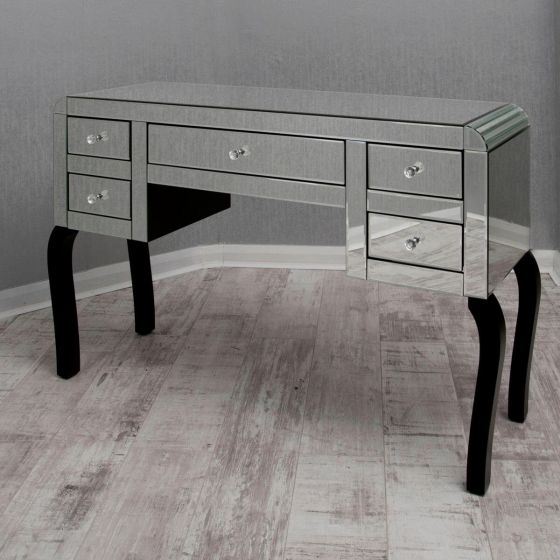 Clear Bevelled Mirrored Dressing Table