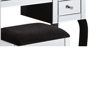 Clear Bevelled Mirrored Dressing Table Set