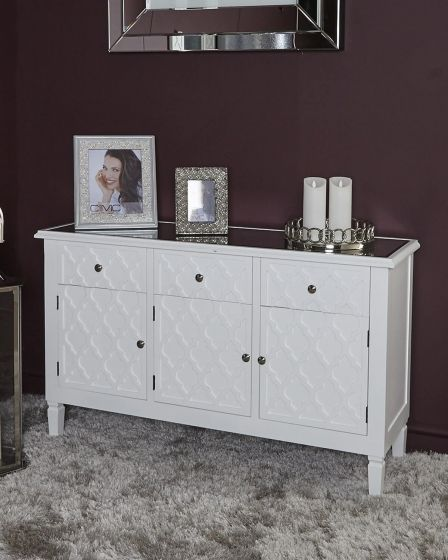 Costa White Sideboard