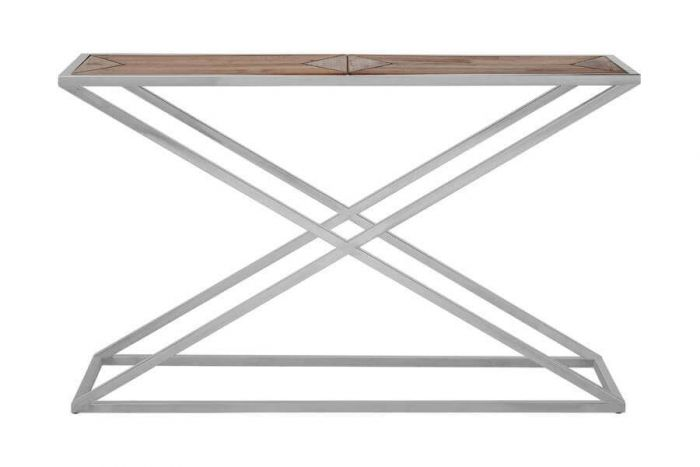 Criss Cross Industrial Chic Console Table