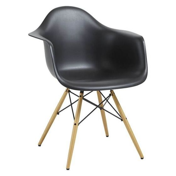 Eleanor Designer Style Armchair - Black