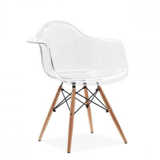 Eleanor Designer Style Armchair - Clear