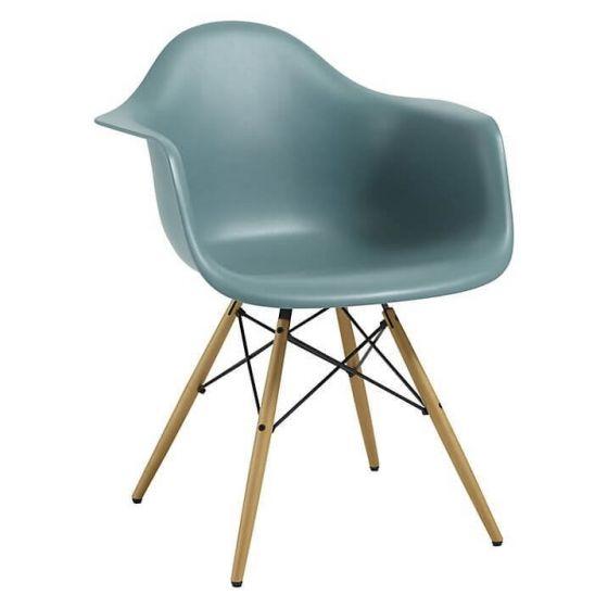 Eleanor Designer Style Armchair - Blue