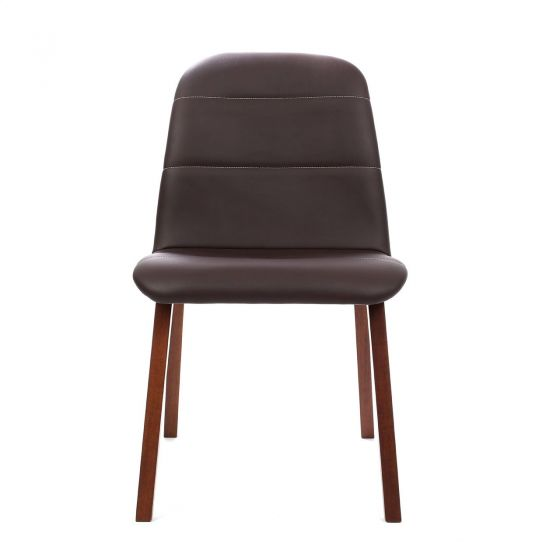 Dining Chair - Chocolate Leather Effect