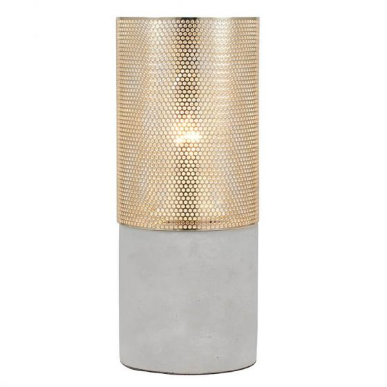 Drake Concrete and Gold Table Lamp