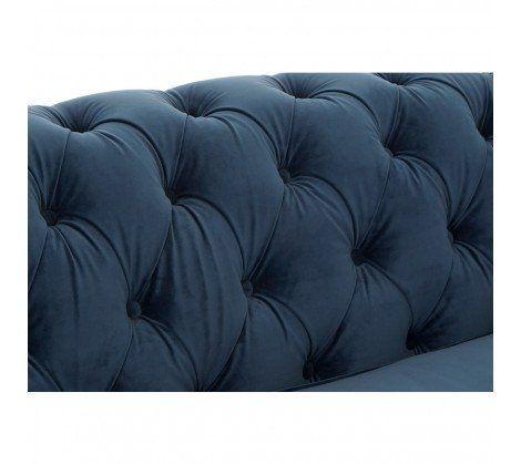 Tremendous Ella 2 Seater Blue Velvet Sofa Cjindustries Chair Design For Home Cjindustriesco