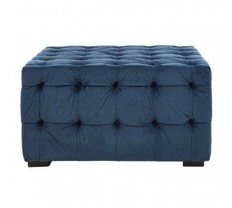 Ella Blue Tufted Footstool