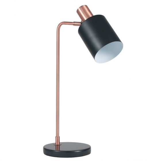 Esme Black and Copper Table Lamp
