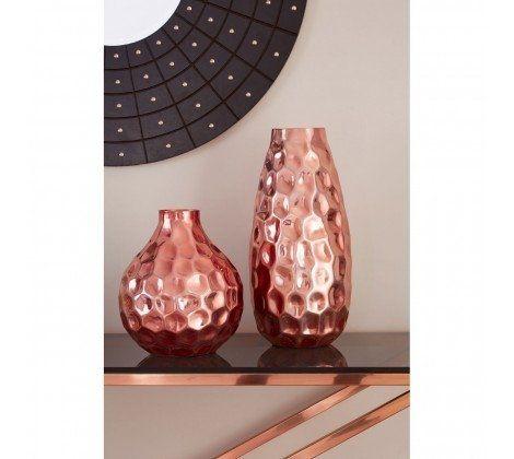 Essentials Premier Copper Finish Small Vase  - Pack of 2