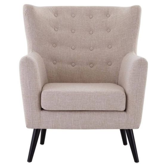 Funen Natural Fabric Armchair