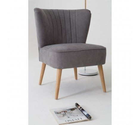 Geneva Grey Wingback Chair