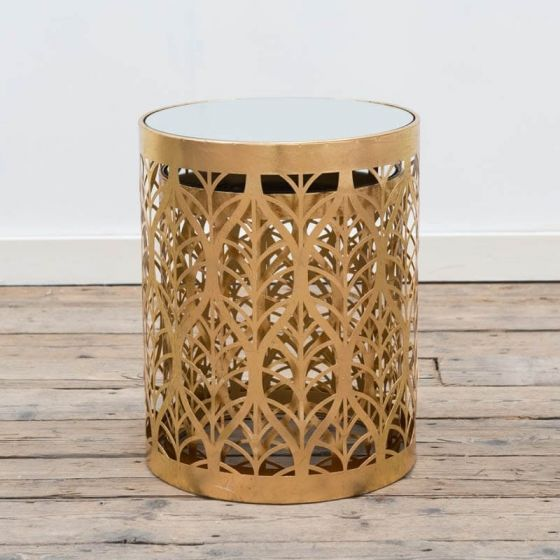 Gin Shu Gold Metal Nests of Tables