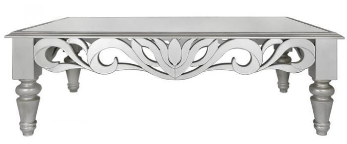 Greek Style Mirrored Coffee Table
