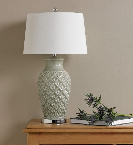 Green Glazed Ceramic Table Lamp